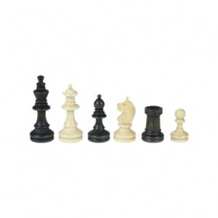 Schachfiguren - Bohemia - Staunton - braun - Königshöhe 84 mm