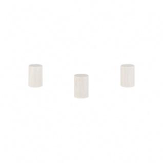 Zylinder - Walze Dia - 10x15mm - weiss