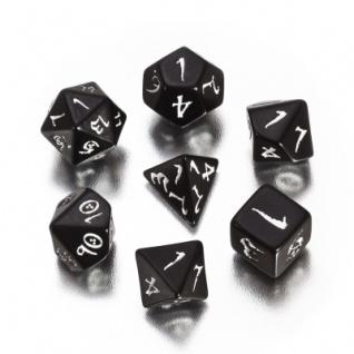 Classic RPG Würfel-Set - 7 Stück - schwarz und weiss
