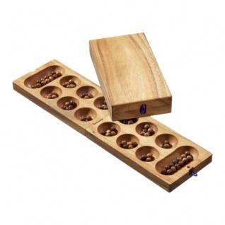 Kalaha - Samena-Holz - mit Holzkugeln