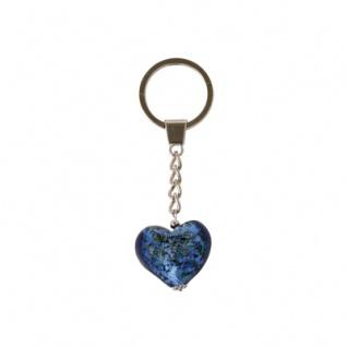 Glas-Herz-Schlüsselanhänger sortiert