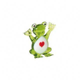 Glas-Frosch mit Herz