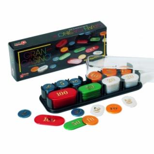 Spielchips - Roulettchips - Jetons - mit Werten - 100 Stück