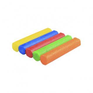 Knete - Glitzer - 5 große Rollen - farbig