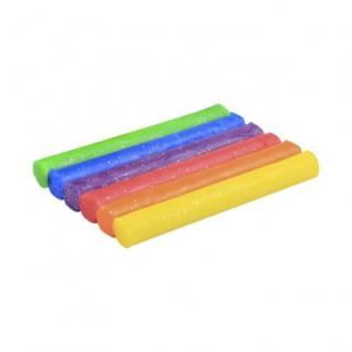 Knete - Glitzer - 6 Rollen - farbig