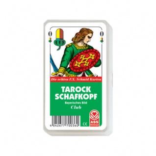 Tarock und Schafkopf bayerisches Bild - im Kunststoffetui