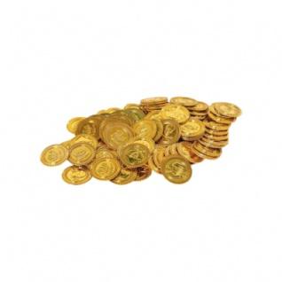 Piratengeld - Goldmünzen - Spielgeld - 33 mm - gold - 100 Stück - Vorschau 2