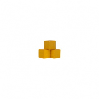 Würfel - Quader - kantig - 10mm - gelb
