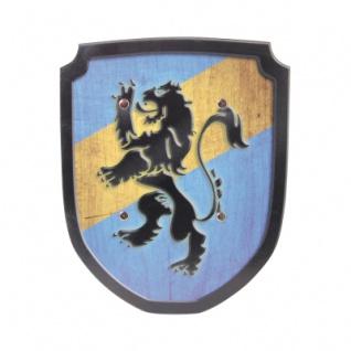 Schild blau - gelb Löwe