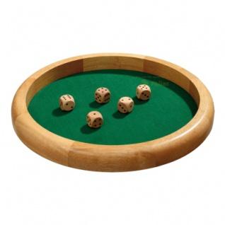 Würfelbrett - extra groß - Hevea-Holz - Würfelfläche mit Filz - 40cm