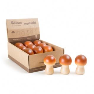 Display Pilz aus Holz