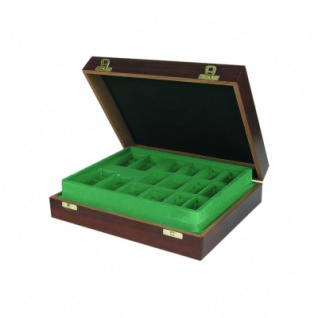 Schachfiguren Holz-Etui Mahagoni - 360 x 305 x 95 mm