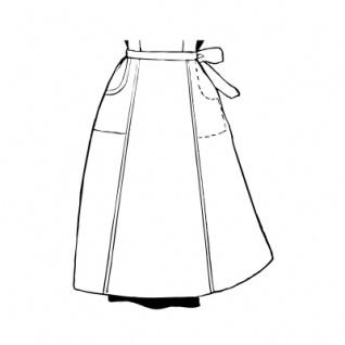 Halbschürze - weiß - 55 cm