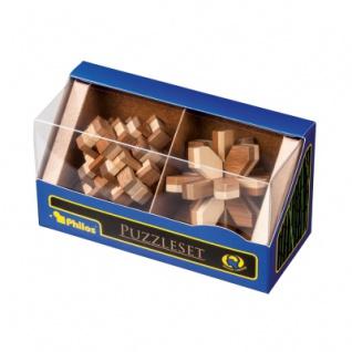 Puzzleset I - Bambus - Level 3 - 2 Stück - Knobelspiele