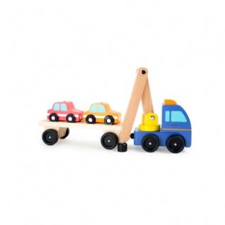 Autotransporter mit Ladekran