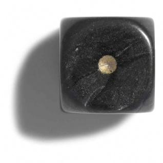 Würfel - 12 mm - schwarz - pearl - 36 Stück