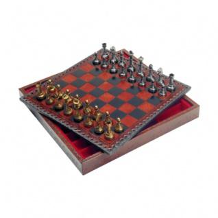 Schachfiguren - Metall - Staunton - Königshöhe 50mm
