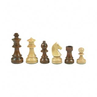 Schachfiguren - Staunton - braun - Königshöhe 89 mm - gewichtet