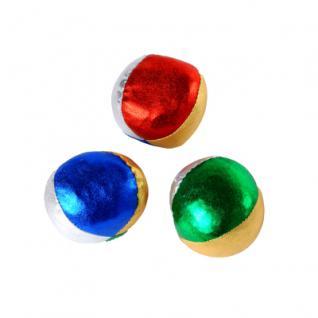 Jonglierbälle 60 mm - metallic - 3 Stück