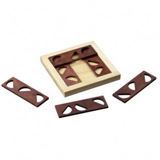 Nine Halves - Hevea- und Samena-Holz - 6 Puzzleteile - Denkspiel - Geduldspiel