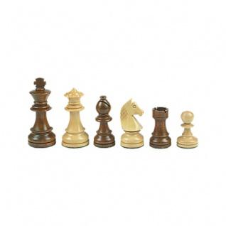 Schachfiguren - Staunton - braun - Königshöhe 84 mm - gewichtet