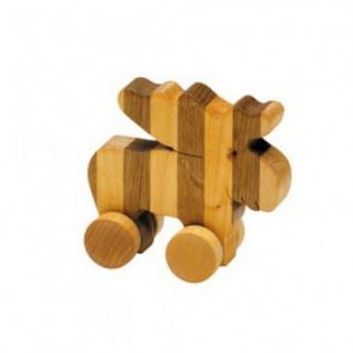Streifentier - Holzfigur - Elch - 8 cm