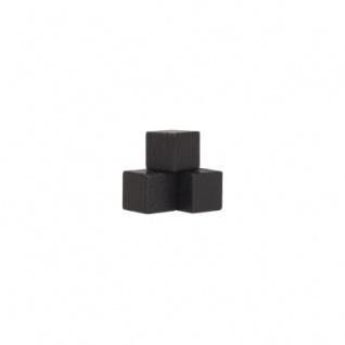 Würfel - Quader - kantig - 10mm - schwarz