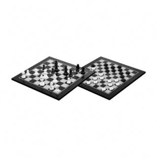 Schach-Dame-Set - schwarz gebeizt