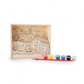 Ausmalbilder aus Holz - Dinosaurier