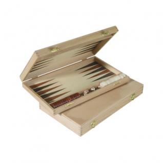 Backgammon - Buche - Intarsie - 28x17 cm