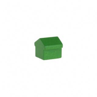 Monopoly Haus - 12x13x12mm - grün