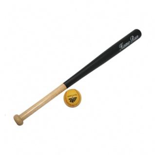 Baseballschläger - Holz - 28 mit Ball