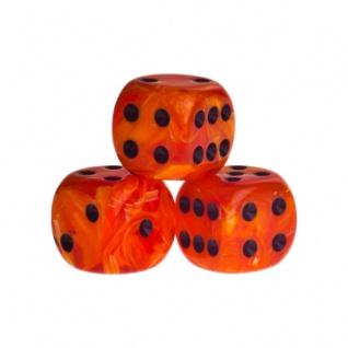 Würfel - Dublin - orange - Kunststoff - 16 mm