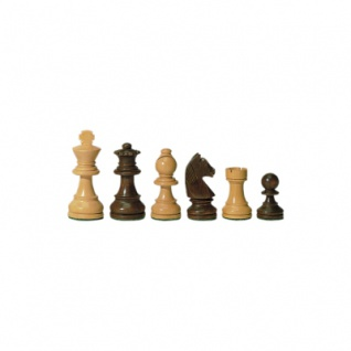 Schachfiguren - Staunton - braun - Königshöhe 63 mm