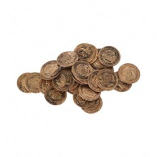 Piratengeld - Goldmünzen - Spielgeld - 33 mm - bronze-gold - 30 Stück