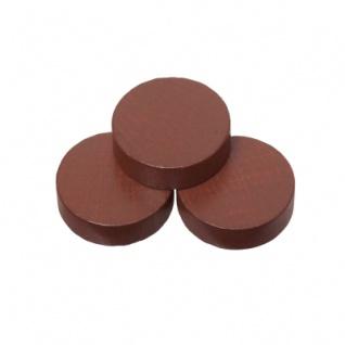 Spielsteine - rund - Holz - braun - 23 x 6 mm