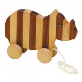 Streifentier - Holzfigur - Nashorn - 16 cm - Vorschau