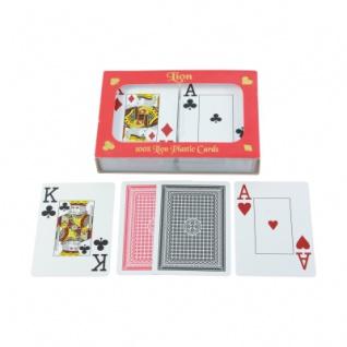 Spielkarten für Poker - Bridge - Canaster - Doppelblatt - 2x55 Karten - Plastik
