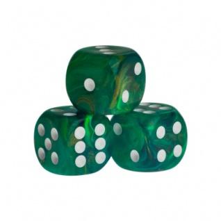 Würfel - Rio - grün - Kunststoff - 16 mm