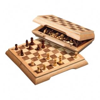 Schachspiel - Reiseschach - magnetisch - klein - Breite 17 cm