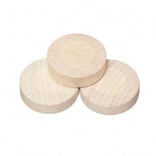 Spielsteine - rund - Holz - hell - 31 x 8 mm