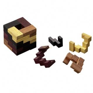 Quadstair - Robinienholz - 4 Puzzleteile - Knobelspiel - Geduldspiel