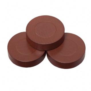 Spielsteine - rund - Holz - braun - 28 x 7 mm