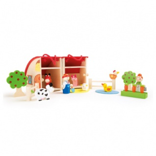 Spielwelt Bauernhof aus Holz - Vorschau 1