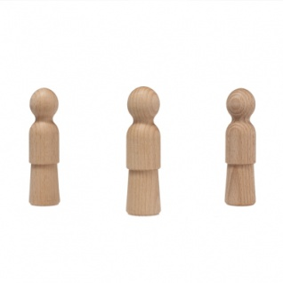 Holzkegel - Holzfiguren - Pöppel - ca. 10 cm