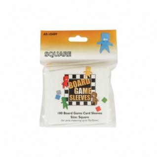 Kartenspiel-Hülle - quadratisch - 100 Stück - 69 x 69 mm