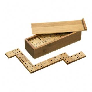 Domino - Doppel 6 - Bambus - 28 Spielsteine
