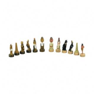 Schachfiguren - Ägypten - gemahlener Stein - Königshöhe 84 mm