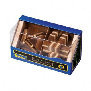 Puzzleset III - Bambus - Level 2 - 4 Stück Knobelspiele