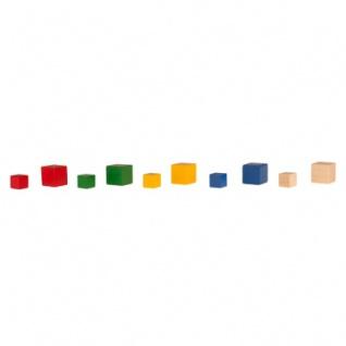 Würfel - Spielsteine - kantig - natur - Holz - 10 mm - Vorschau 5